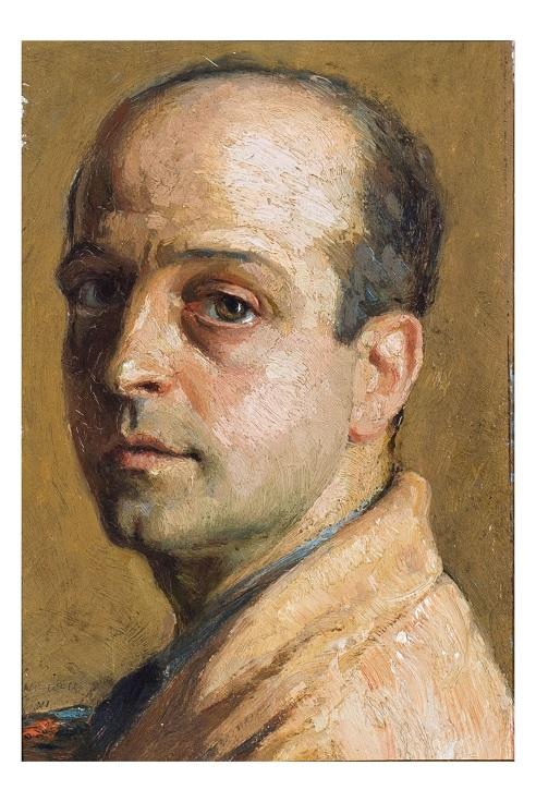 Autoritratto, Ritratto d'uomo (dipinto, opera isolata) di Vinagiano Vincenzo (attribuito) - ambito Italia meridionale (prima metà XX)