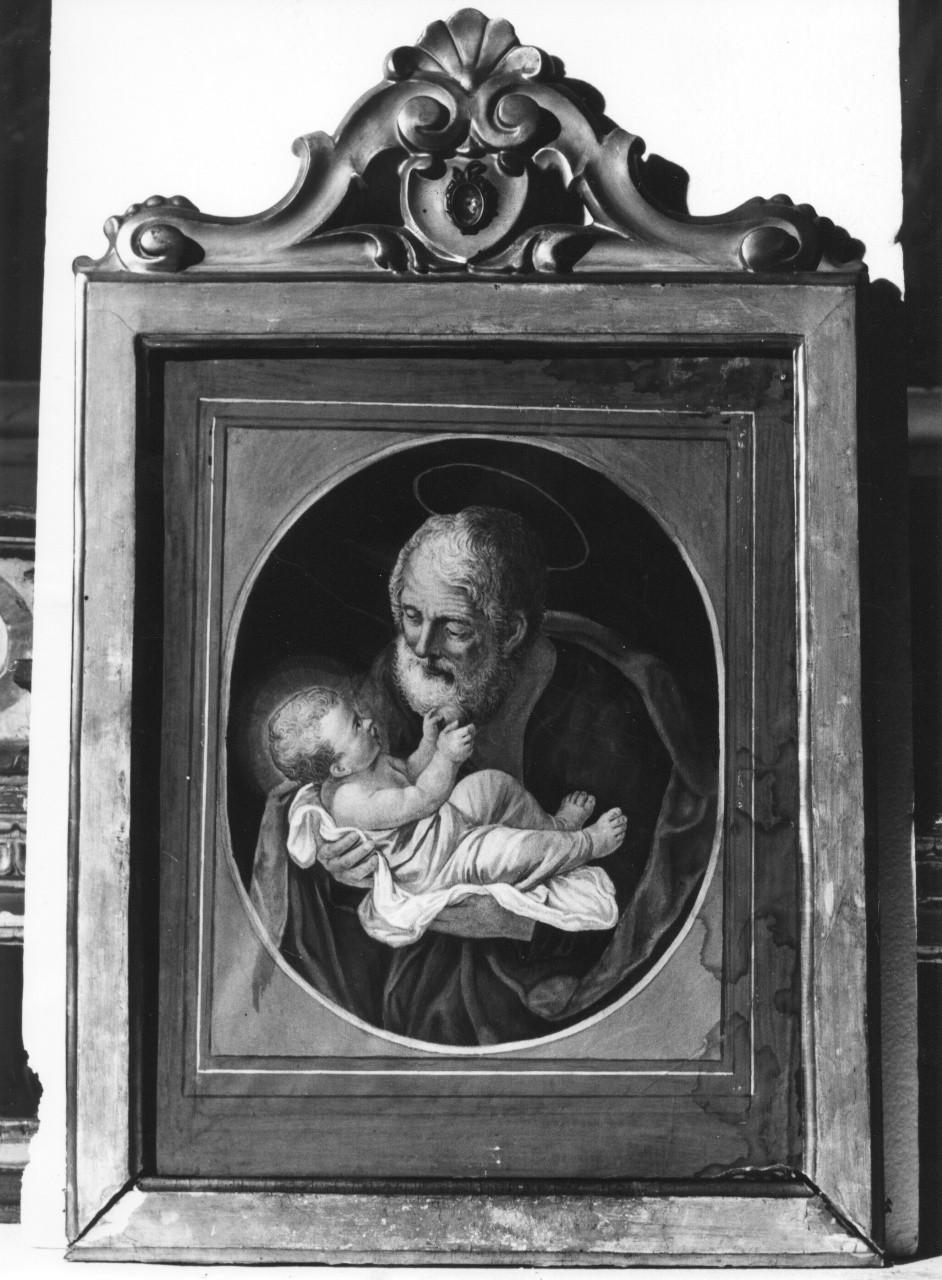 San Giuseppe con Gesù Bambino, San Giuseppe e Gesù Bambino (stampa) - manifattura toscana (sec. XIX)
