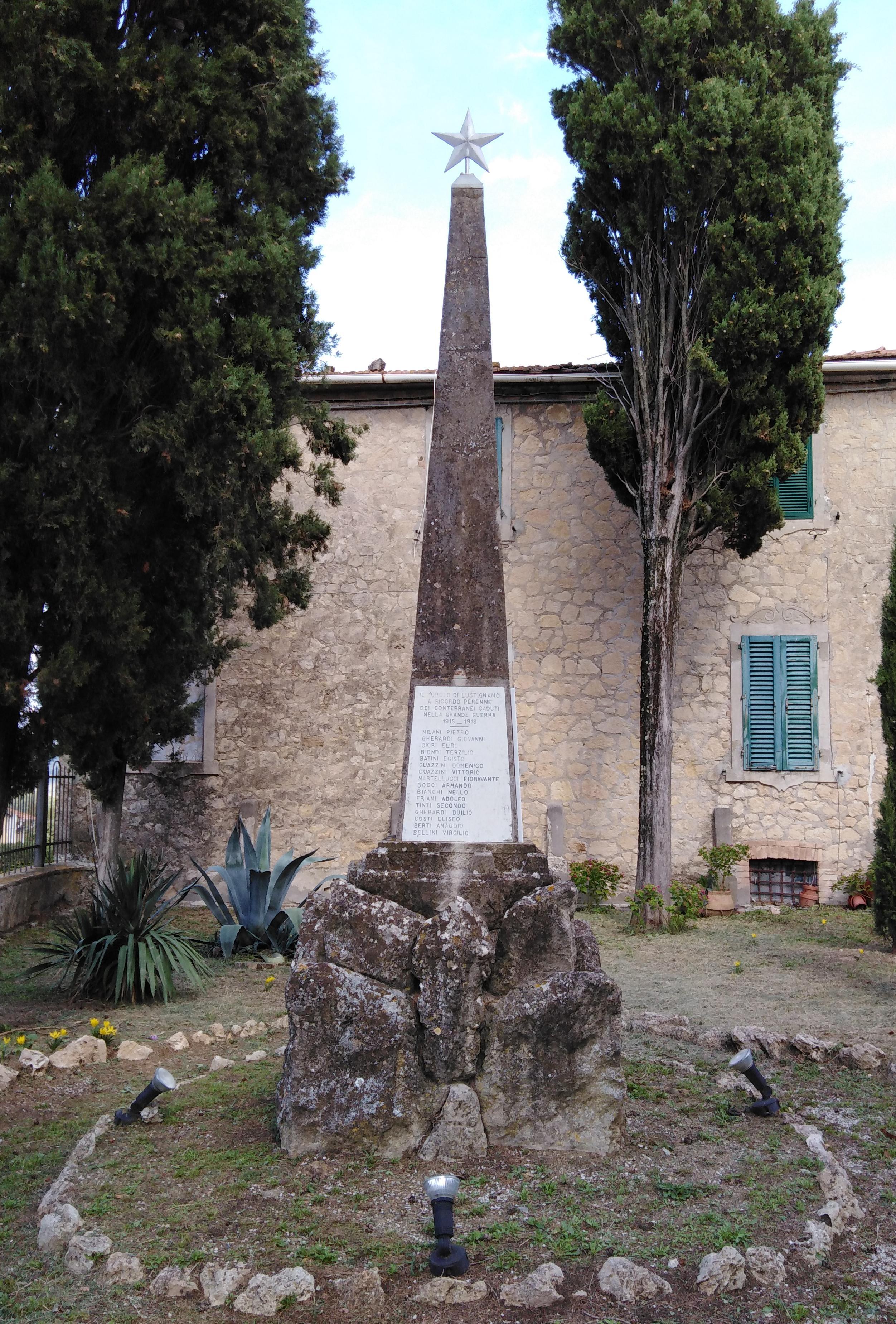 monumento ai caduti - ad obelisco - ambito toscano (prima metà sec. XX)