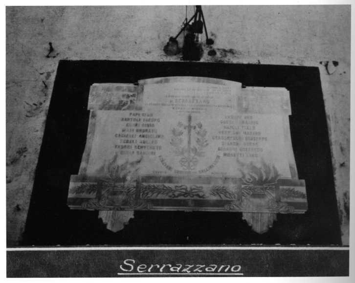 lapide commemorativa ai caduti - ambito toscano (prima metà sec. XX)