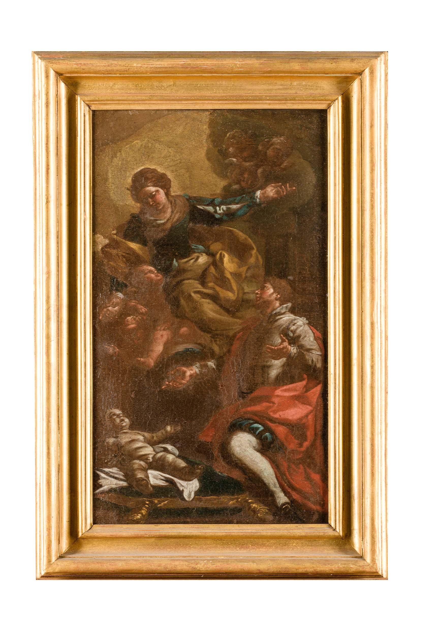 Visione di San Francesco Borgia, Visione di San Francesco Borgia (dipinto) di Francesco Narici - ambito napoletano (XVIII, seconda metà)