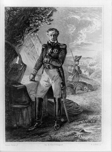 Marech.l Ney Prince de la Moskowa, ritratto d'uomo (stampa) di Vernet Horace, Lefevre Achille Désiré (primo quarto sec. XIX)