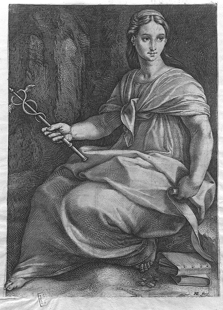 Polimnia (stampa smarginata, serie) di Goltzius Hendrick (sec. XVI)