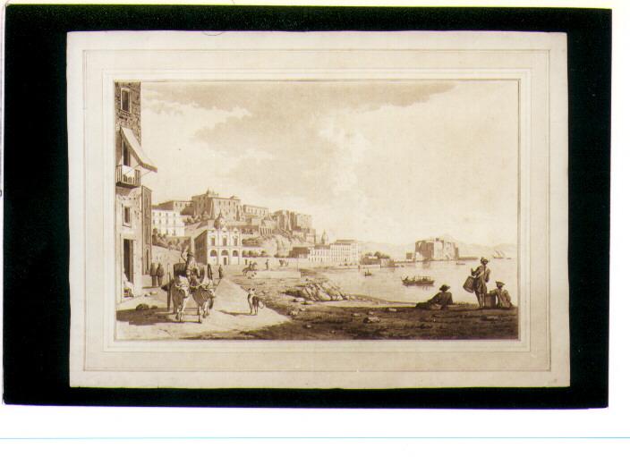veduta di Napoli da Chiaia (stampa) di Fabris Pietro (secondo quarto sec. XIX)