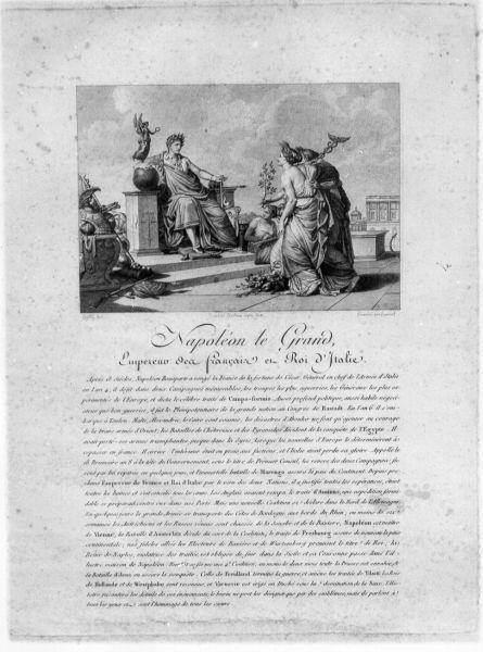 Napoléon le grand empereur des francais et roi d'Italie, storie della vita di Napoleone Bonaparte (stampa) di Lafitte Louis, Duplessi Bertaux Jean, Bovinet Edme (primo quarto sec. XIX)