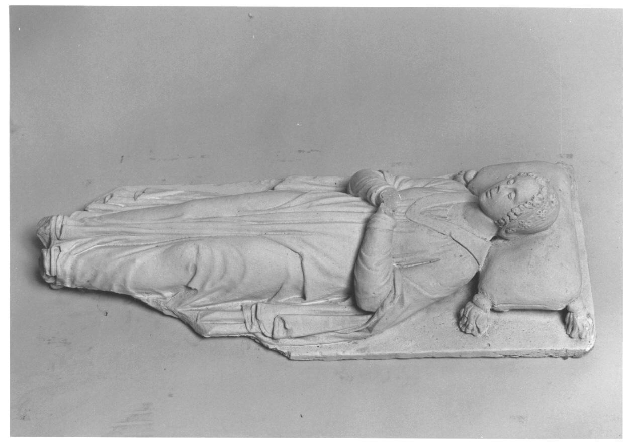 Iolanda di Monferrato (scultura, opera isolata) di Cacciatori Benedetto (secondo quarto sec. XIX)