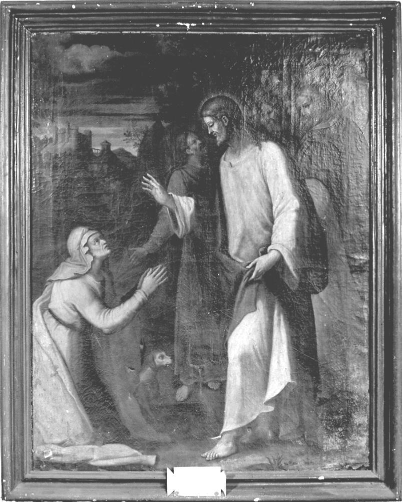 Cristo che risana una donna, Cristo guarisce l'emorroissa (dipinto, opera isolata) - ambito parmense (ultimo quarto sec. XVIII)