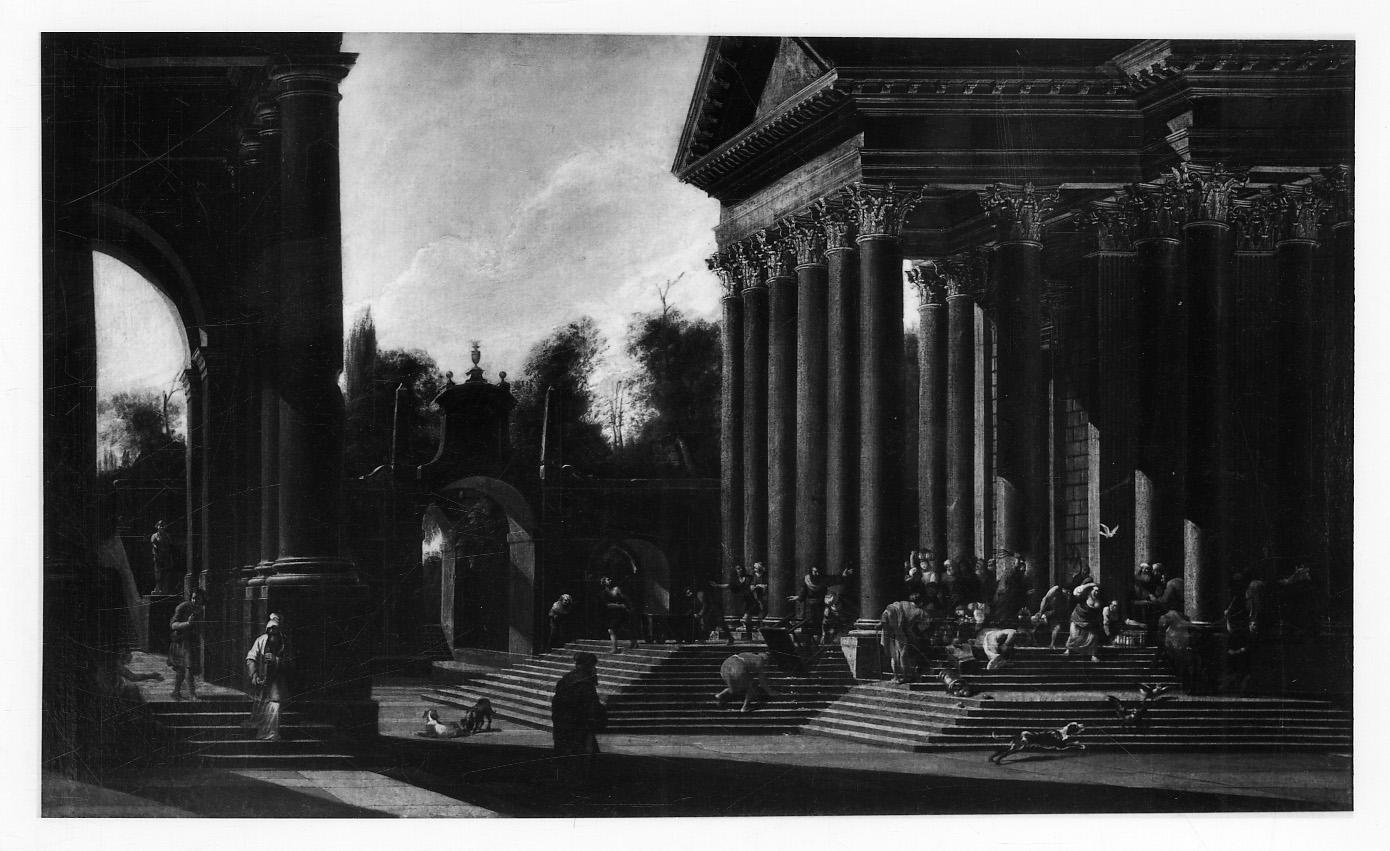 cacciata dei Madianiti dal tempio (dipinto, opera isolata) di Codazzi Viviano (sec. XVII)