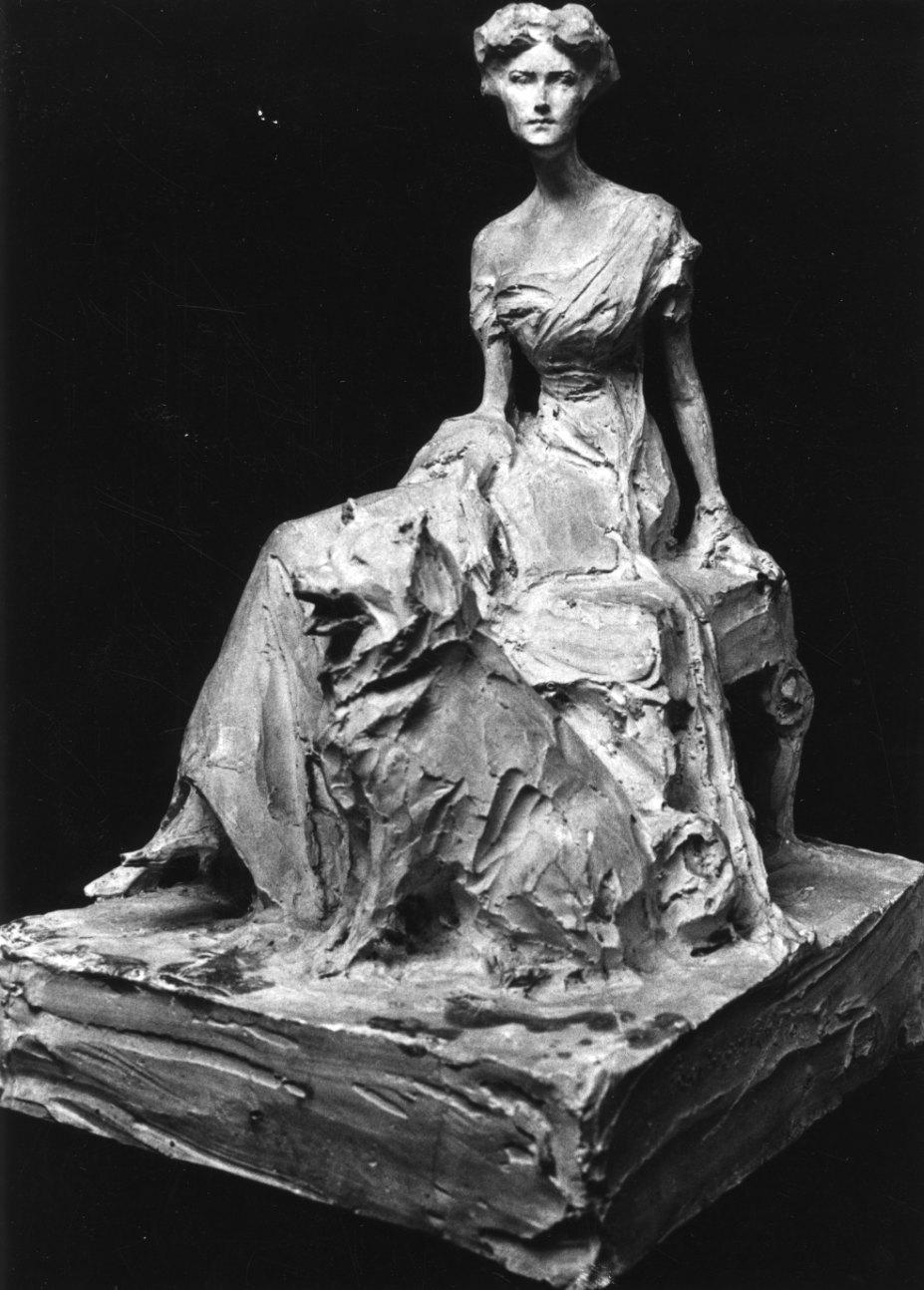 ritratto della Baronessa Robert de Rothschild (gruppo scultoreo, opera isolata) di Troubetzkoy Paolo (primo quarto sec. XX)
