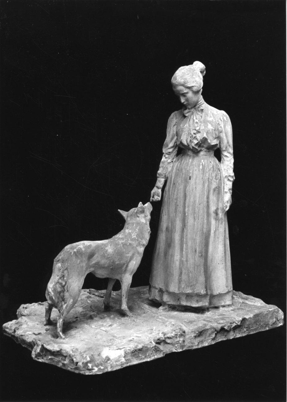 ritratto di Angeline Troubetzkoy (scultura, opera isolata) di Troubetzkoy Paolo (inizio sec. XX)