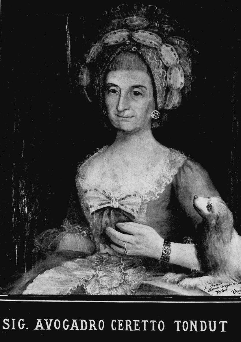 ritratto di Anna Avogadro Ceretto Tondut (dipinto, opera isolata) - ambito piemontese (ultimo quarto sec. XVIII)