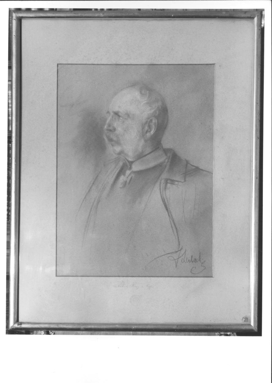 ritratto a mezzo busto di Alberto Federico Augusto di Sassonia (stampa a colori) di Von Lenbach Franz (fine sec. XIX)