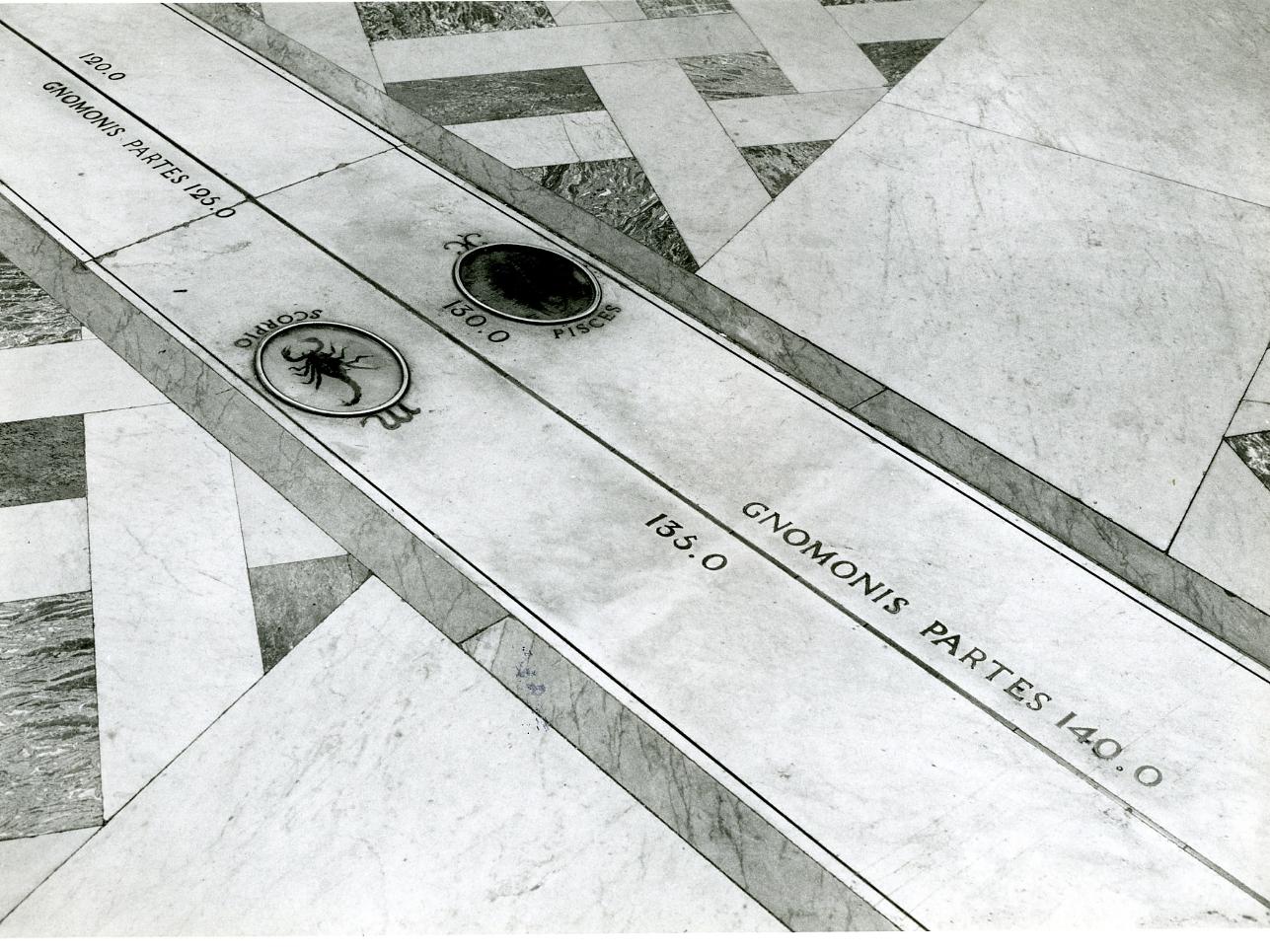 Meridiana Astronomica (pavimento) di Schiantarelli Pompeo (fine sec. XVIII)