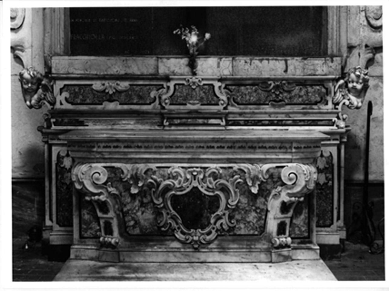 paliotto, elemento d'insieme - bottega napoletana (sec. XVIII)