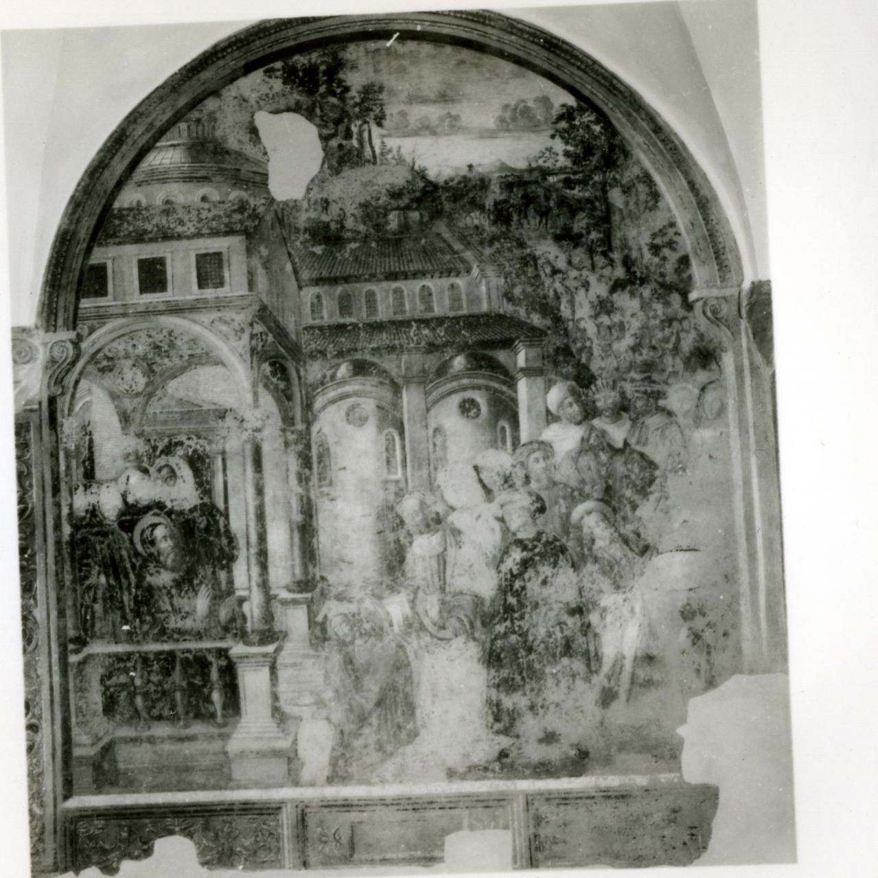 storie della vita di San Benedetto (dipinto, ciclo) di Solario Antonio (sec. XVI)