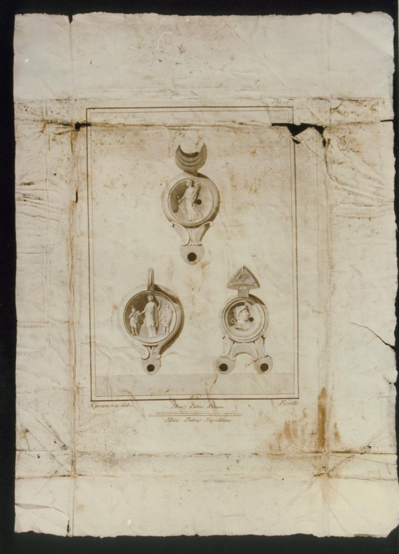 statua di Nettuno (stampa) di Vanni Nicola, Cepparoli Francesco (sec. XVIII)