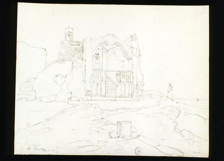 veduta di San Liborio (disegno) di Gigante Giacinto (sec. XIX)