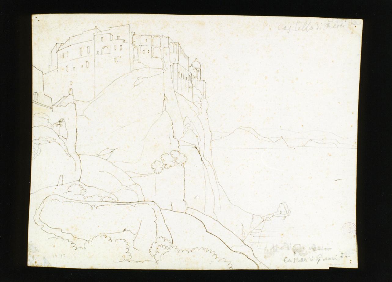 veduta del castello di Procida (disegno) di Gigante Giacinto (sec. XIX)