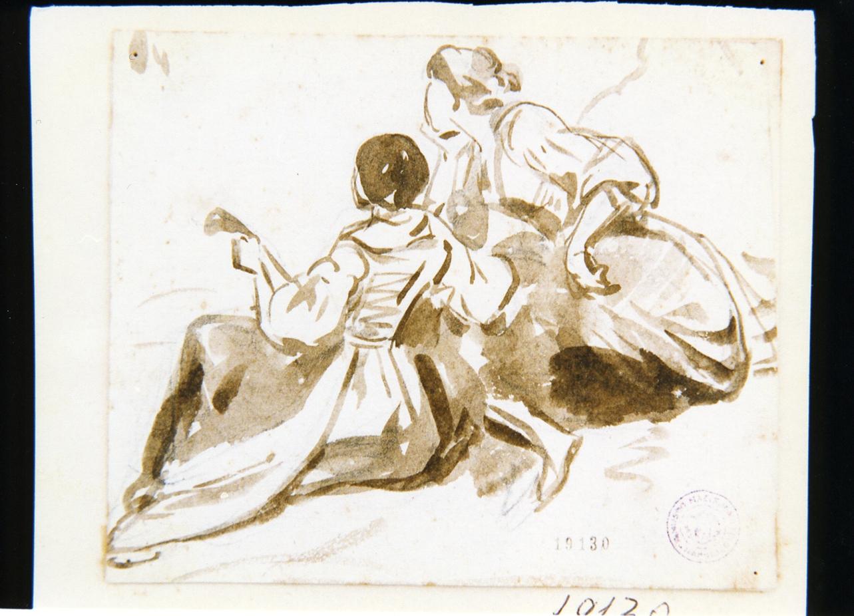 figure femminili in costume napoletano (disegno) di Gigante Giacinto (sec. XIX)