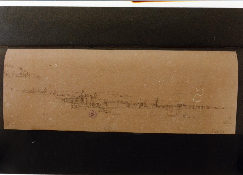veduta (disegno) di Vervloet Frans (secondo quarto sec. XIX)