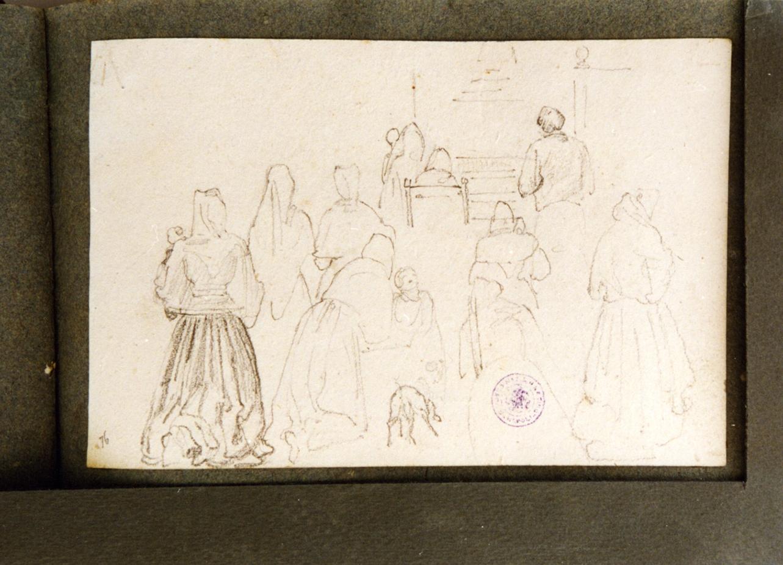 figura femminile (disegno) di Vervloet Frans (secondo quarto sec. XIX)