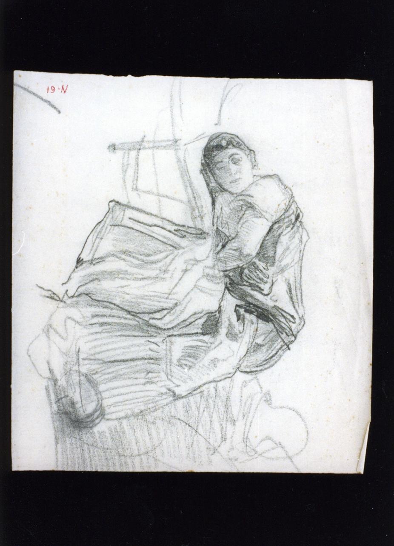 figura femminile (disegno) di Vetri Paolo (sec. XIX)