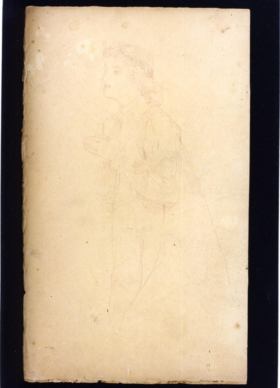 figura femminile (disegno) di Vetri Paolo (sec. XX)