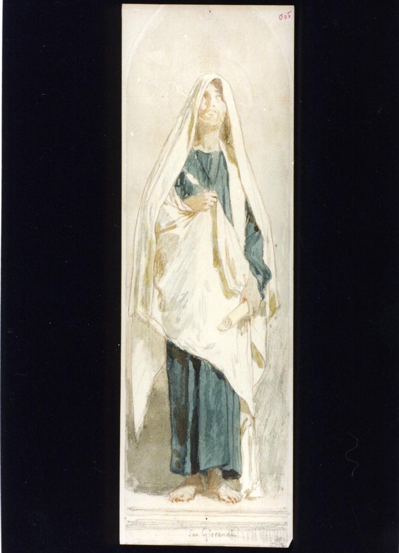 figura maschile (disegno) di Vetri Paolo (secc. XIX/ XX)