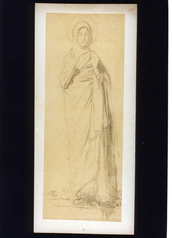 figura femminile (disegno) di Vetri Paolo (secc. XIX/ XX)