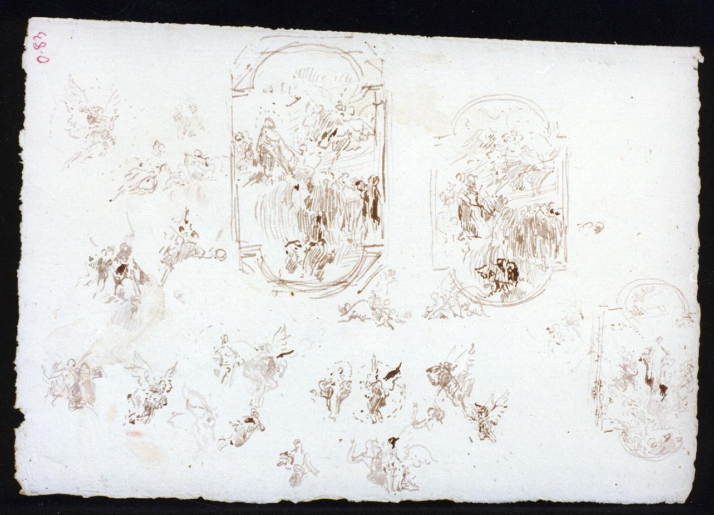 gloria di angeli (disegno) di Vetri Paolo (secc. XIX/ XX)
