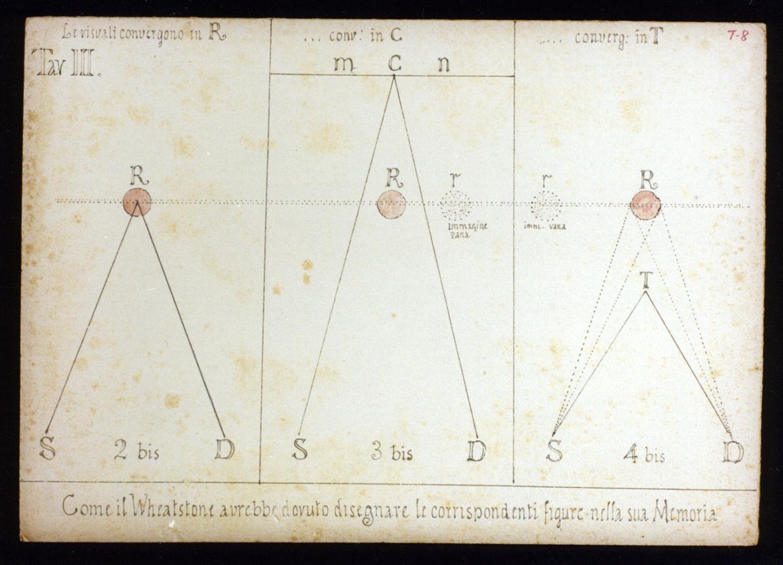 studio per la teoria della visione (disegno) di Vetri Paolo (sec. XX)