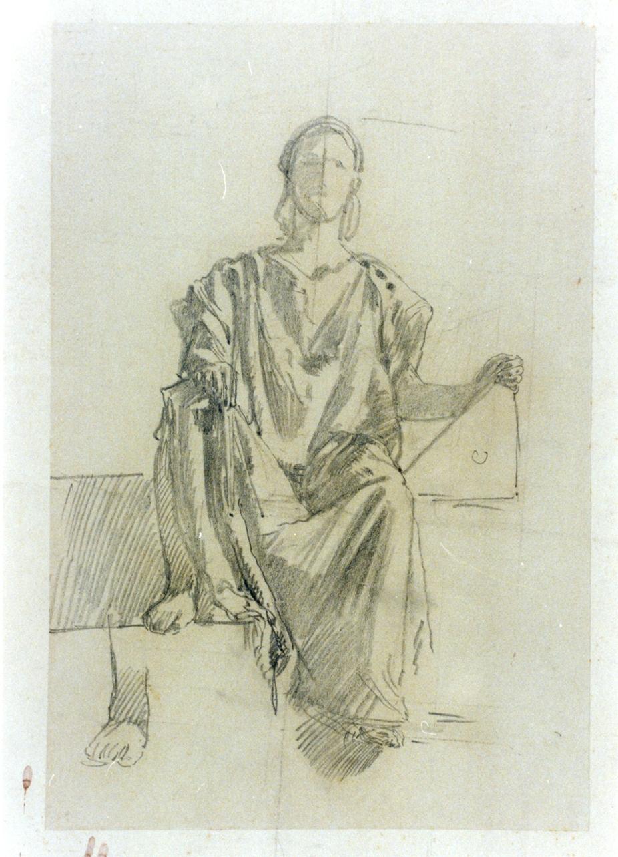figura maschile (disegno) di Vetri Paolo (sec. XIX)