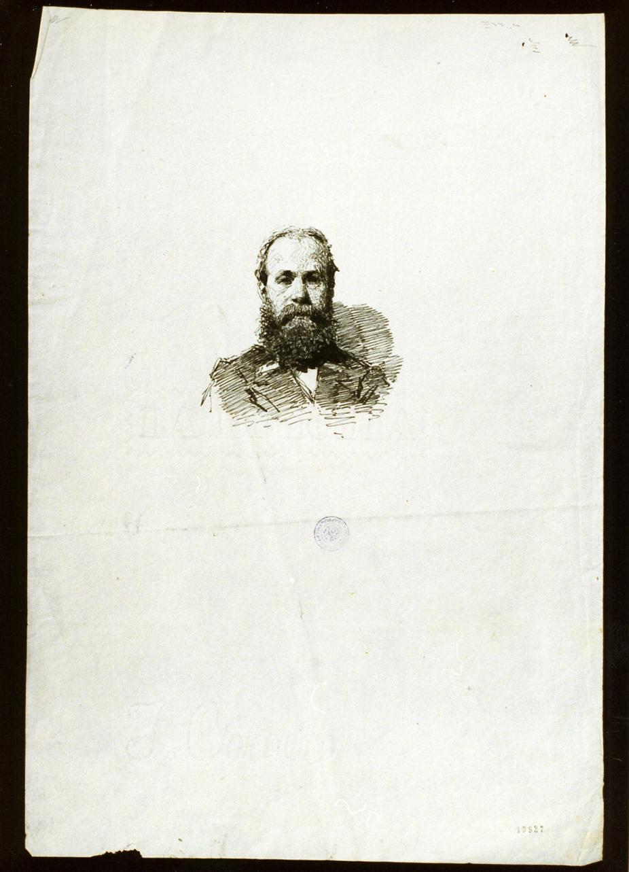 studio di ritratto maschile (disegno) - ambito napoletano (sec. XIX)