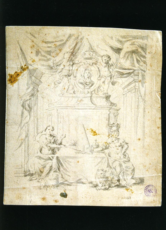 studio di un sepolcro (disegno) - ambito napoletano (sec. XIX)