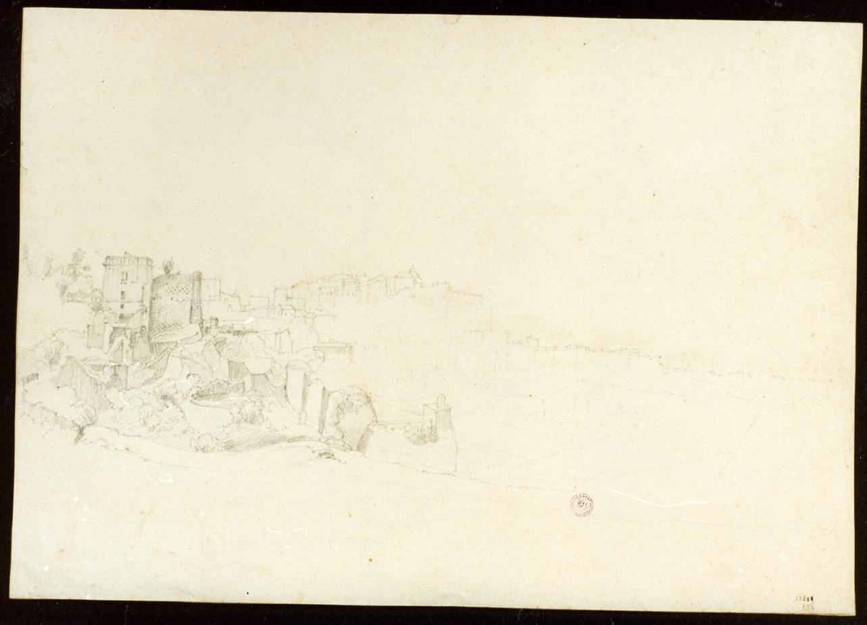 studio della veduta di Pozzuoli (disegno) - ambito napoletano (sec. XIX)