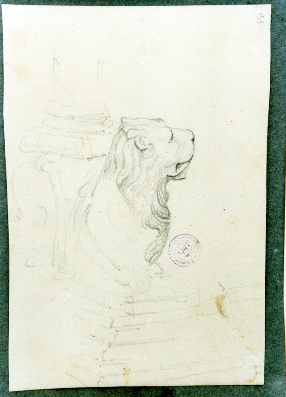 studio di leone stiloforo (disegno) di Vervloet Frans (secondo quarto sec. XIX)