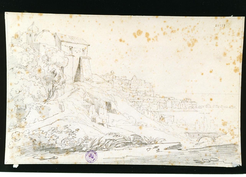veduta di Pozzuoli (disegno) di Gigante Giacinto (sec. XIX)