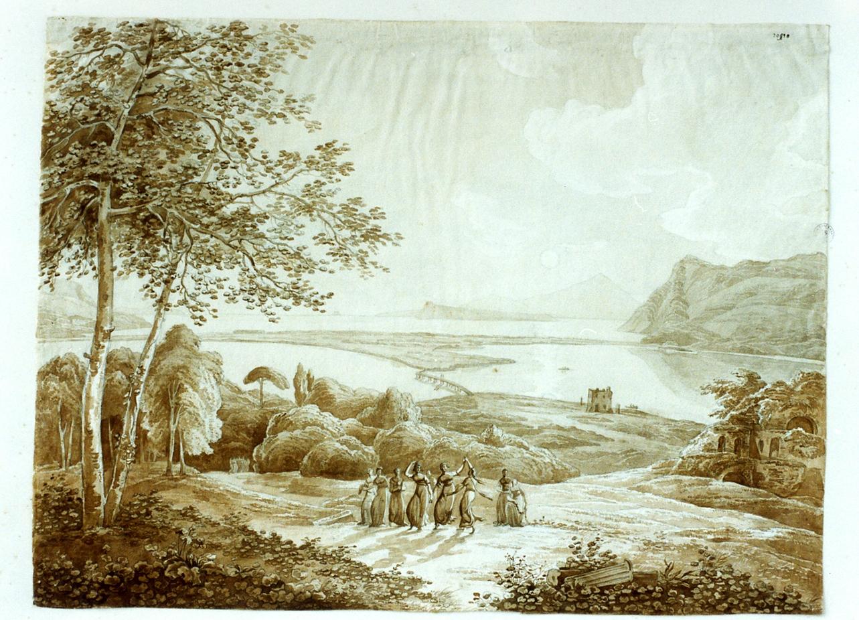 paesaggio dei Campi Flegrei (disegno) di Hackert Philipp (secc. XVIII/ XIX)