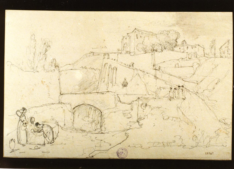 studio di paesaggio presso Pozzuoli (disegno) di Gigante Giacinto (sec. XIX)