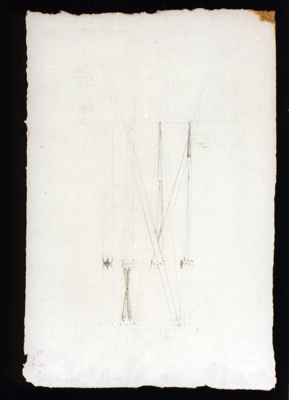studio di assi per cancello ligneo (disegno) di Vetri Paolo (secc. XIX/ XX)