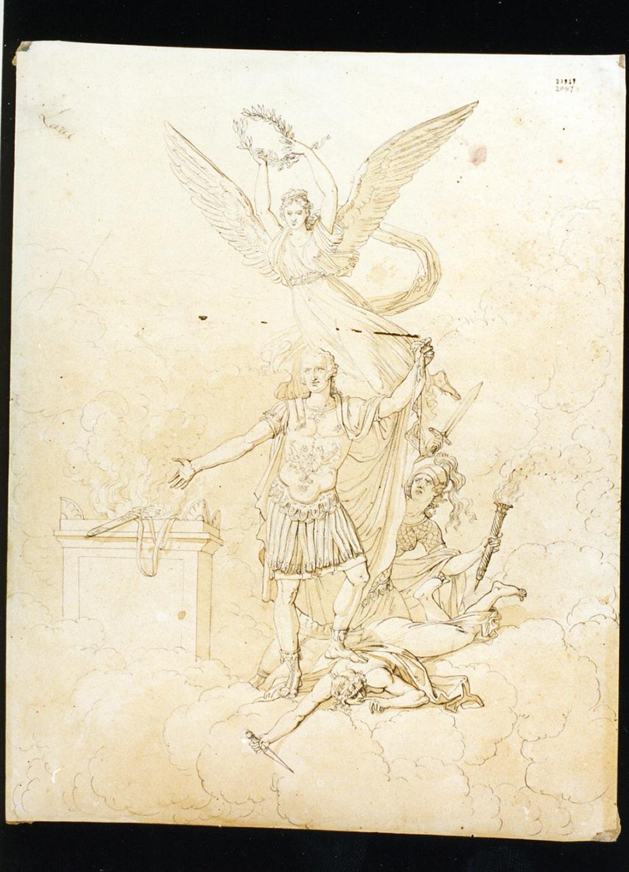 apoteosi di Ferdinando I di Borbone (disegno) di Cammarano Giuseppe (prima metà sec. XIX)