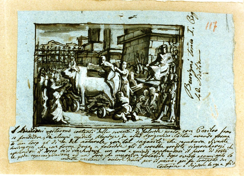 episodio delle guerre puniche (disegno) di De Vivo Tommaso (sec. XIX)