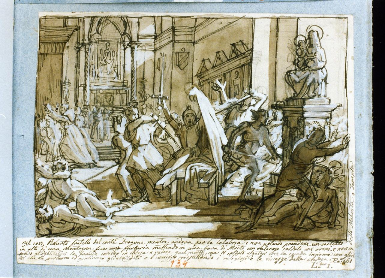episodio della vita di Roberto il Guiscardo (disegno) di De Vivo Tommaso (sec. XIX)