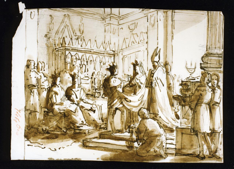 sposalizio di un sovrano (disegno) di De Vivo Tommaso (sec. XIX)