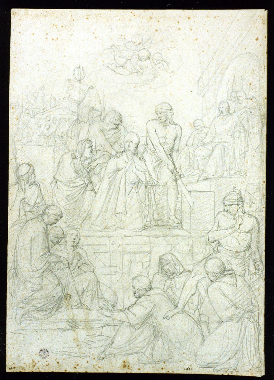 decapitazione di San Gennaro (disegno) di Camuccini Vincenzo (sec. XIX)