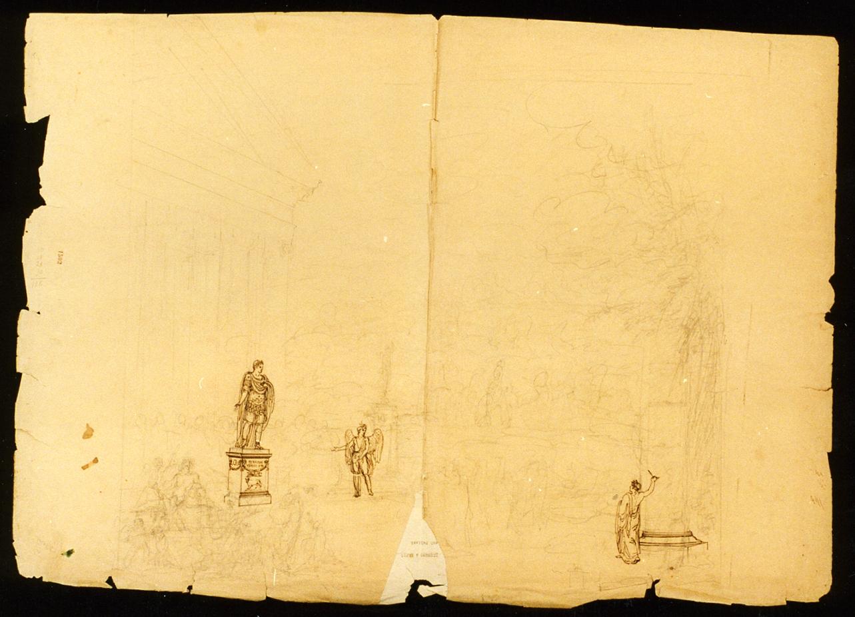 bozzetto di scenografia (disegno) di Niccolini Antonio (prima metà sec. XIX)