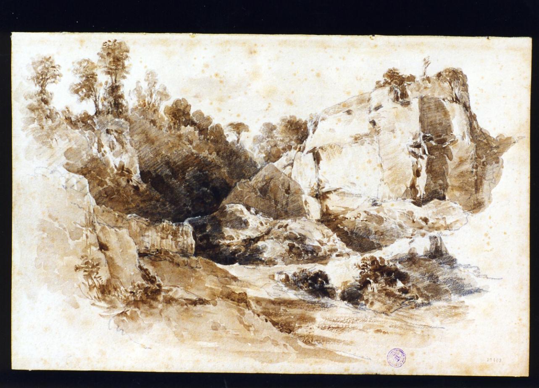 paesaggio (disegno) di Lanza Giovanni Giordano (prima metà sec. XIX)