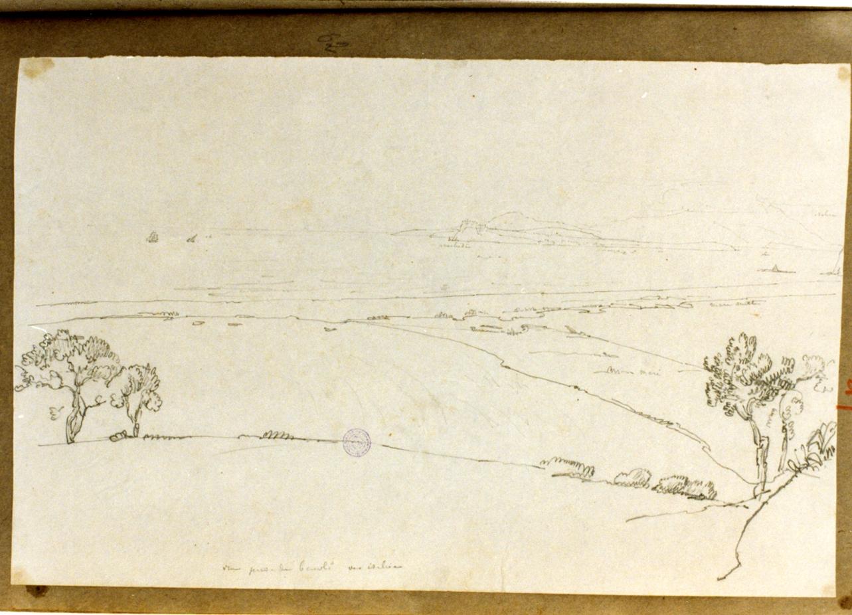 Ischia e Procida viste da Bacoli (disegno) di Vervloet Frans (prima metà sec. XIX)