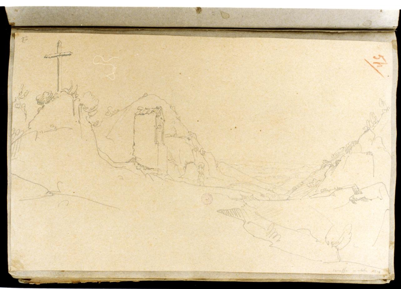 Caraffa in Calabria (disegno) di Vervloet Frans (sec. XIX)