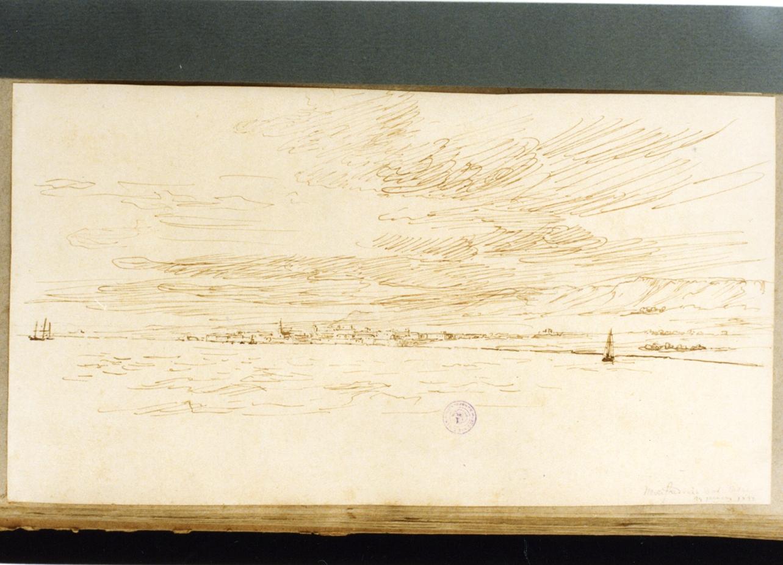 veduta di Manfredonia (disegno) di Vervloet Frans (secondo quarto sec. XIX)